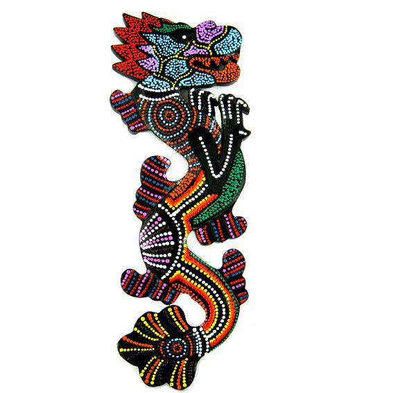 Панно -талисман Дракон 29х10см роспись по дереву