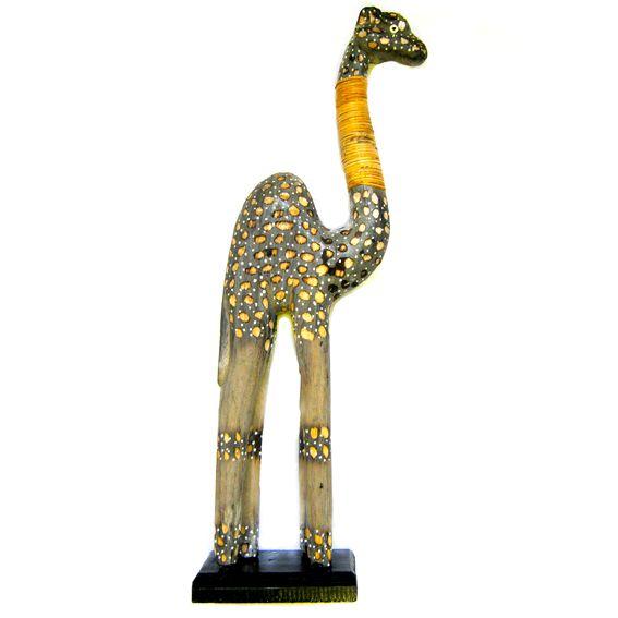 Статуэтка из дерева Верблюд Балтазар 50 см