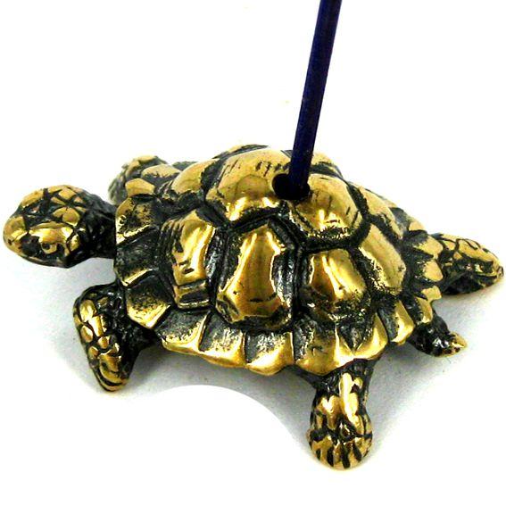 Подставка под аромапалочки Черепаха (бронза) 33*22*13мм
