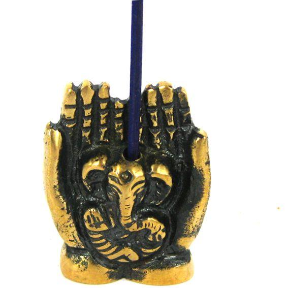Подставка для благовоний Ганеша (бронза) 24х11х31мм