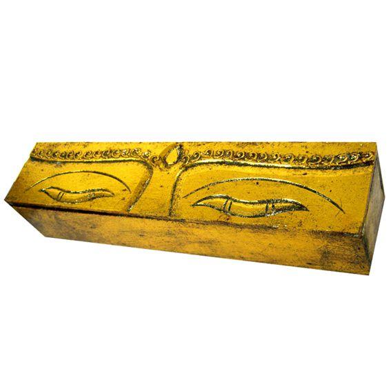 Шкатулка деревянная Глаза Будды 32х7х7см