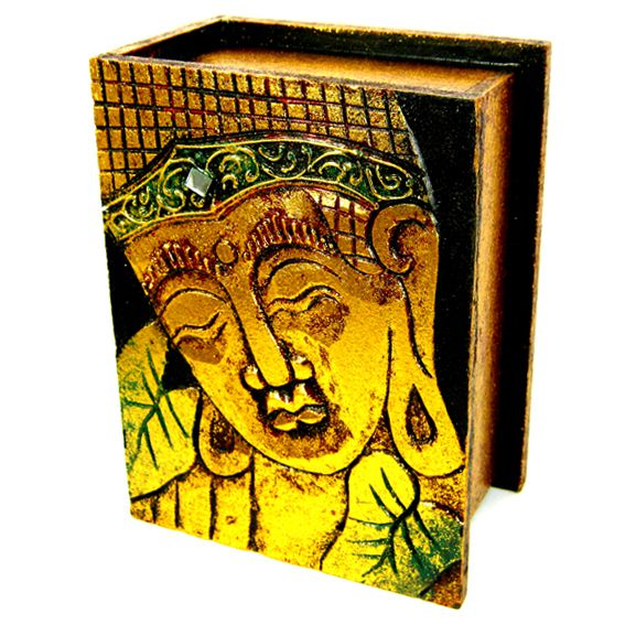 Шкатулка с ликом Будды  для украшений 19x14х9с