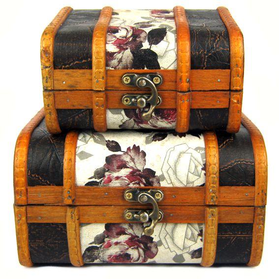 Набор из деревянных сундучков 18х15,5х10,5см