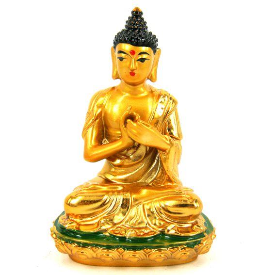 Фигурка Будда жест колесо Дхармы 8 см