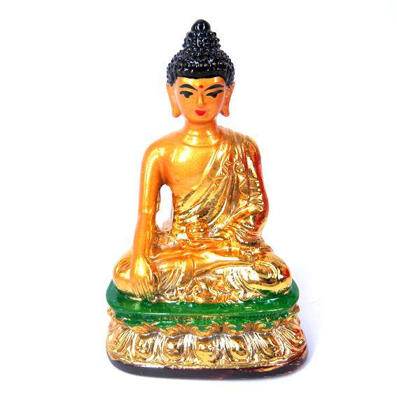 Фигурка Золотой Будда жест Бхумиспарша 8 см