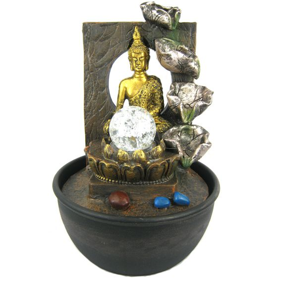 Комнатный Фонтан Будда 29 см
