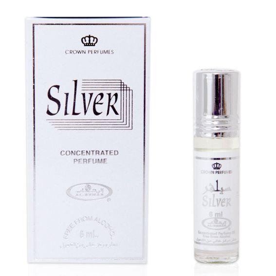 Арабские духи унисекс Silver, 6 мл
