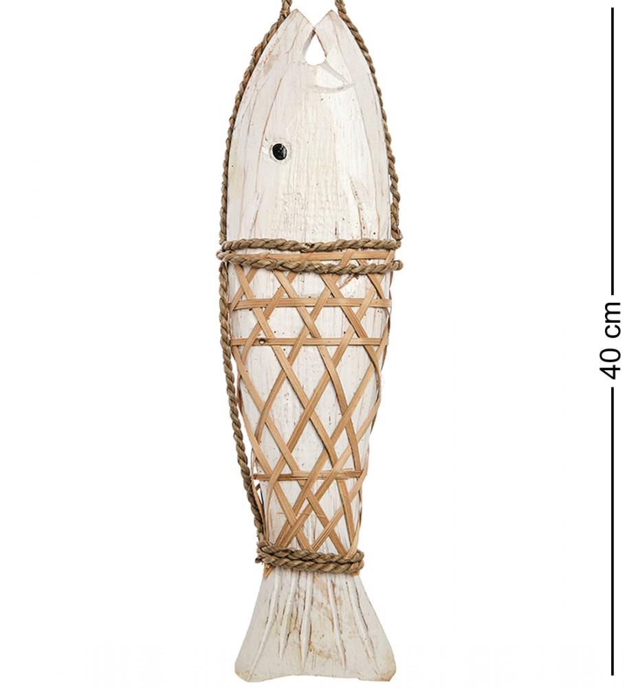 Панно настенное рыба (белая) 40 см