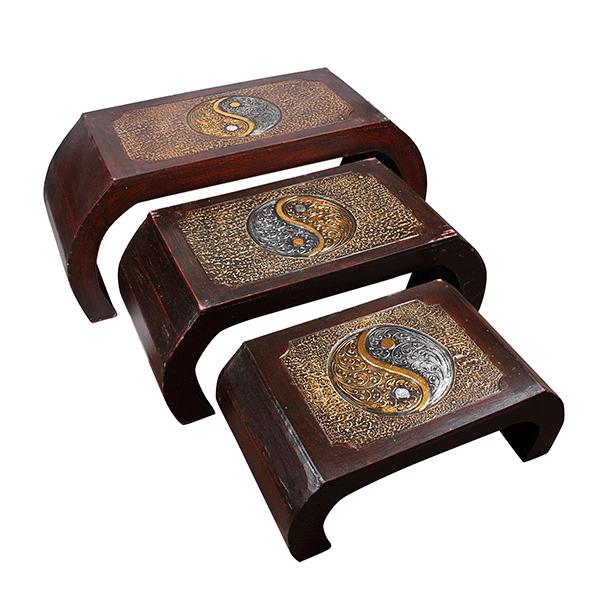 Набор японских столиков Инь Ян (3 шт 80,65,50 см)