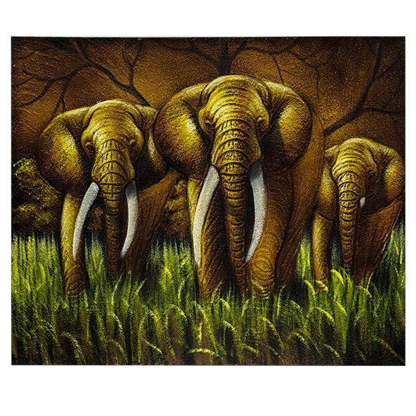 Картина со слонами 60х50см масло