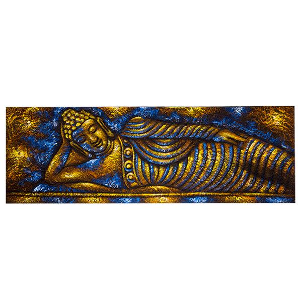 Индонезийская картина Будда 90х30см (масло)