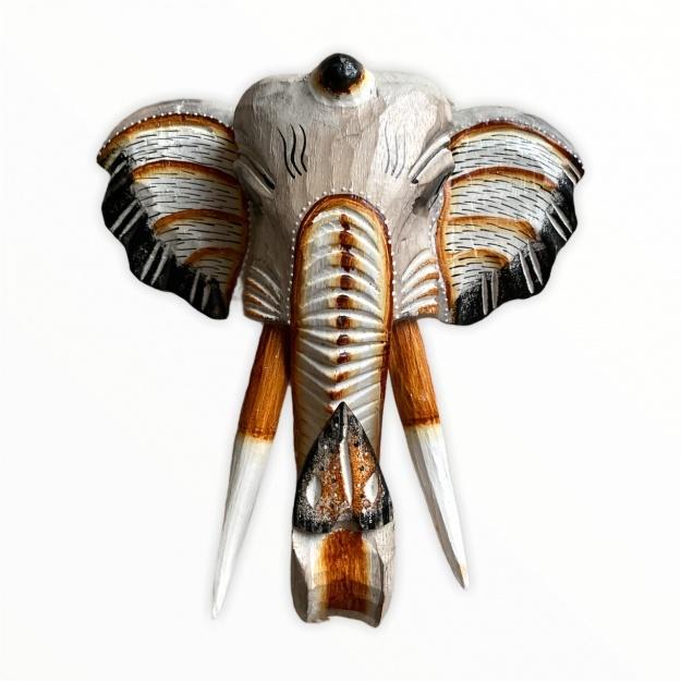 Восточный декор Голова слона из дерева 40 см
