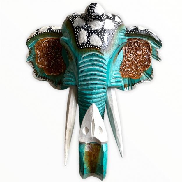 Фигура из дерева Голова слона 30см