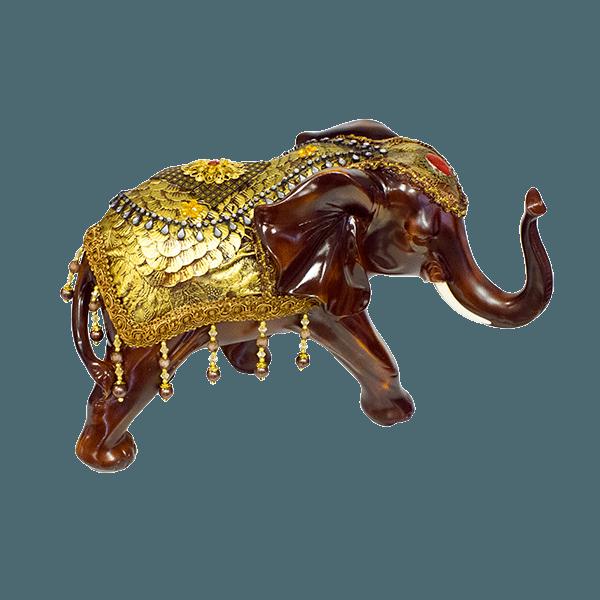 Фигура слона с попоной 36х25см