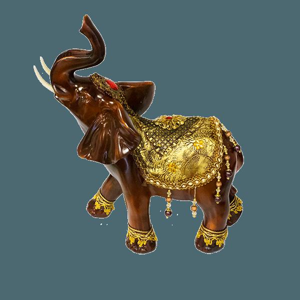 Фигура слона хобот вверх 35х43см