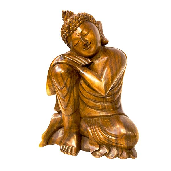 Фигура Будда в Медитации 27х32 см резьба