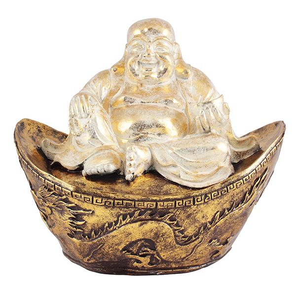 Фигура Бога Хотея на чаше богатства 40х36 см