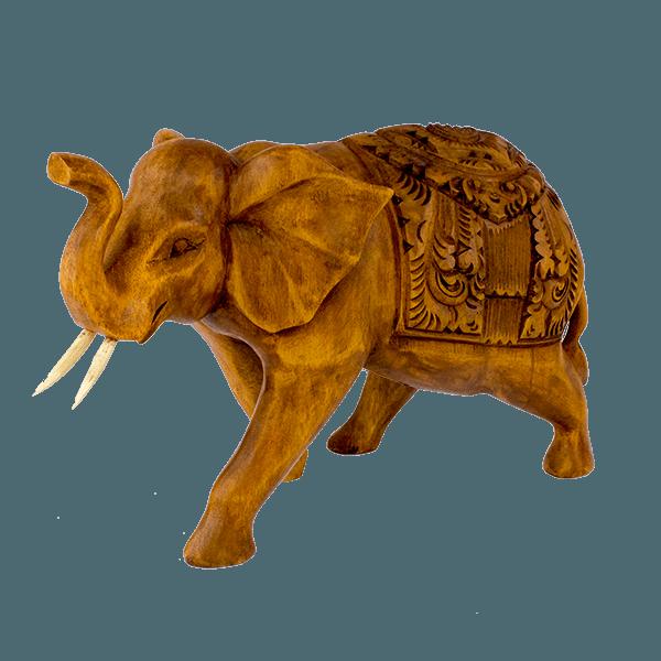 Фигура из дерева слон резной 30х20см