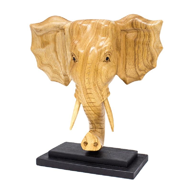 Фигура Голова слона 30х35 см суар