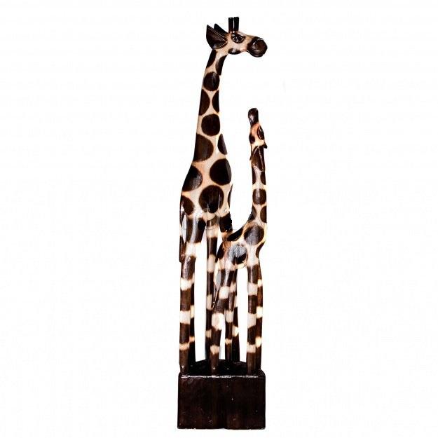 """Статуэтка резная """"африканские жирафы"""" 100cм."""