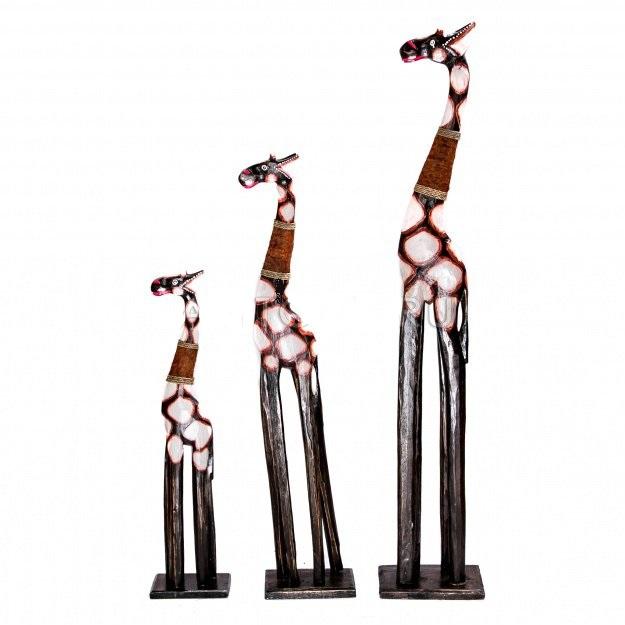 Набор из трех статуэток жирафов 100, 80, 60см