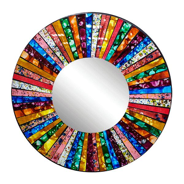 Цветное зеркало инкрустация мозаика 60 см