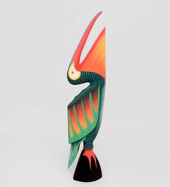 """Сувенир из дерева """"Зеленый Пеликан"""" 80см"""