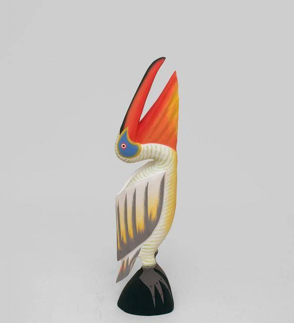 """фигурка из дерева """"Желтый Пеликан"""" 60см"""