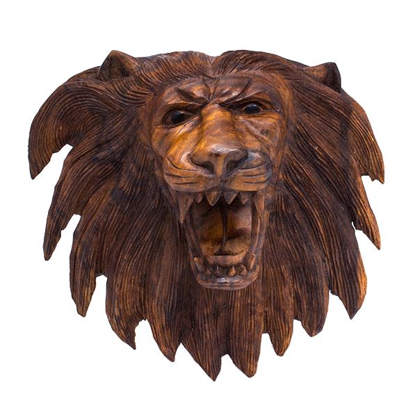 Маска настенная Лев нечесанный 32х30 см