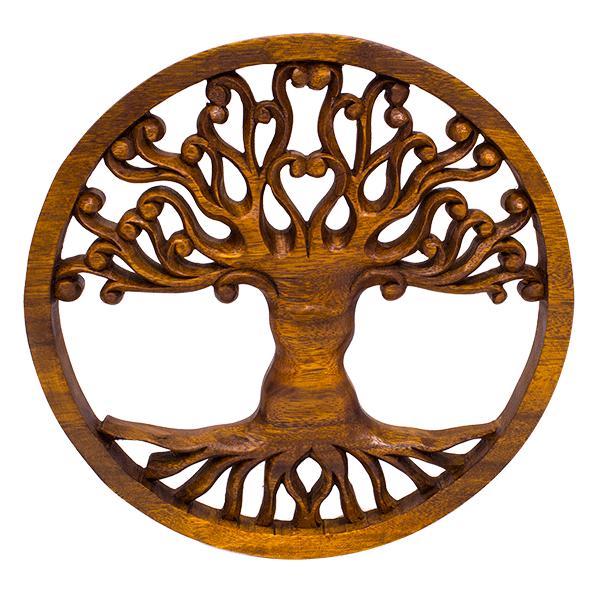 Резное панно Дивное дерево 30 см