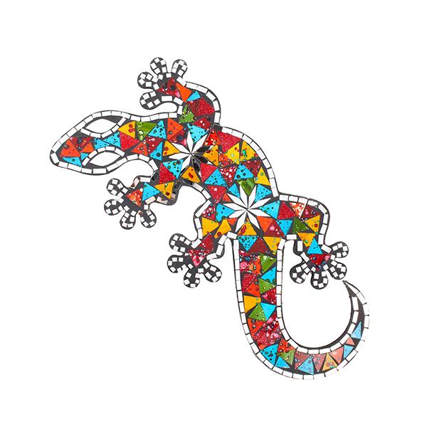 Панно геккон яркие краски 50см