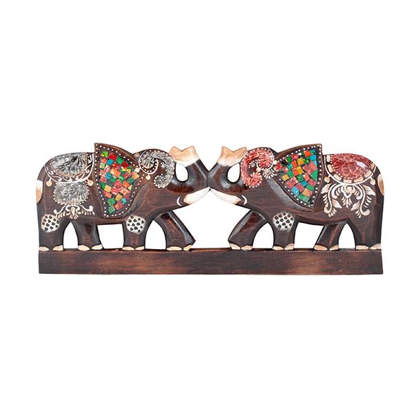 """Панно декоративное """"Два слона"""" 50 см"""