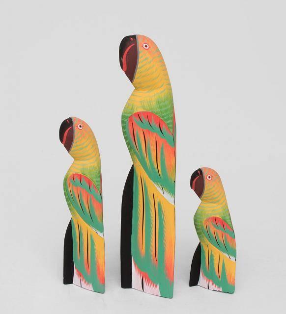 """Набор фигурок """"Желтый Попугай"""" 40,30,20 см"""