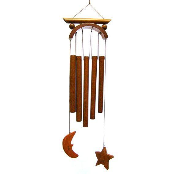 Бамбуковая музыка ветров Звезда и месяц 51  см