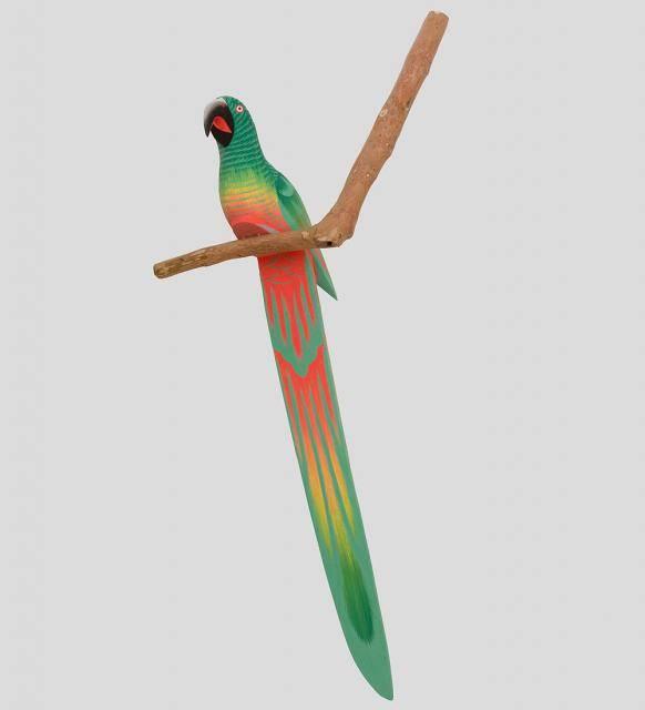 """Статуэтка """"Яркий попугай на ветке"""" 100см"""