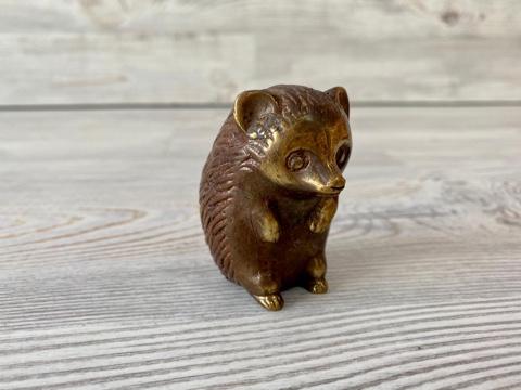 Фигурка из бронзы Ежик 5,5 см
