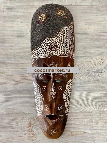 Декоративная маска абориген 50 см
