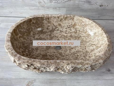 Раковина из мрамора Антильское течение 61*43 см