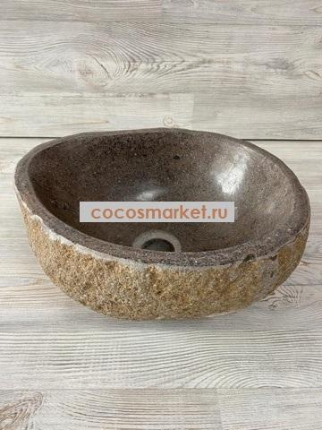Раковина из камня Куросио 34х29 см