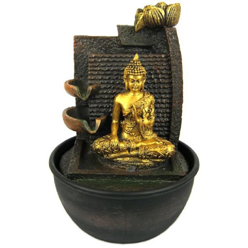 Декоративный фонтан Будда 28 см