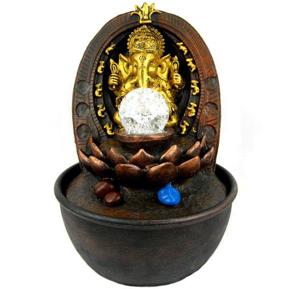 Сувенирный фонтан Ганеша 28 см