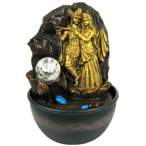 Декоративный фонтан Кришна и Радха 28см