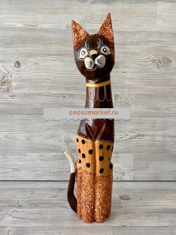 """Фигурка из дерева """"Кошка Изаура"""" 60см"""