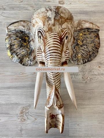 Панно интерьерное Голова слона 50 см.