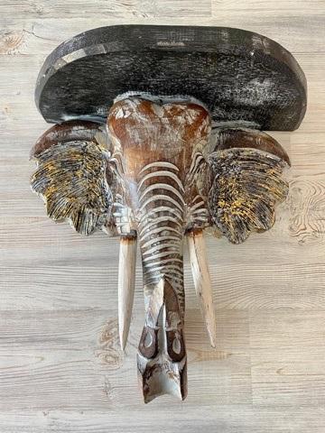 Полка необычная Мудрый слон 40 см.