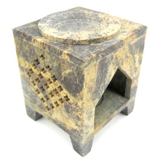 Аромалампа из камня на ножках 10см