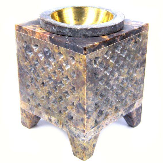 Аромалампа из камня с бронзовой чашей 8,5см