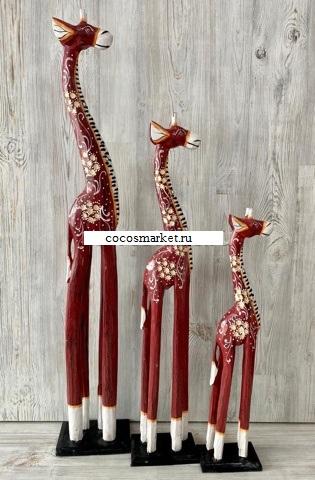 "Фигуры ""Интерьерные Жирафы"" 100, 80, 60cм."