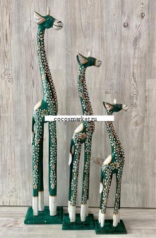 """Фигуры """"Декоративные Жирафы"""" 100, 80, 60cм."""