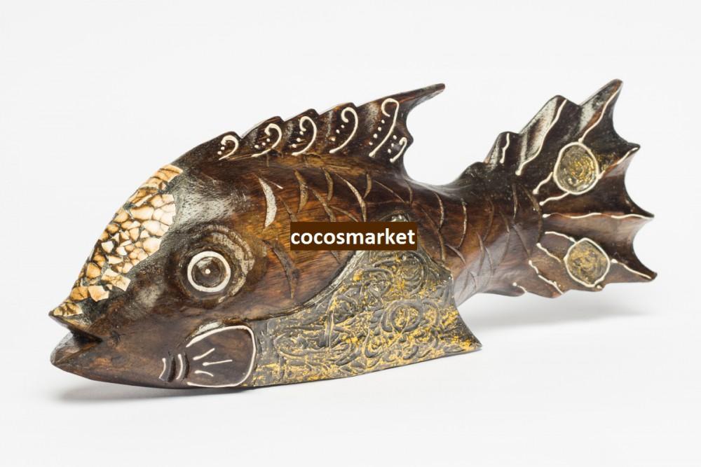 Фигурка Рыбка 25см. (дерево албезия)